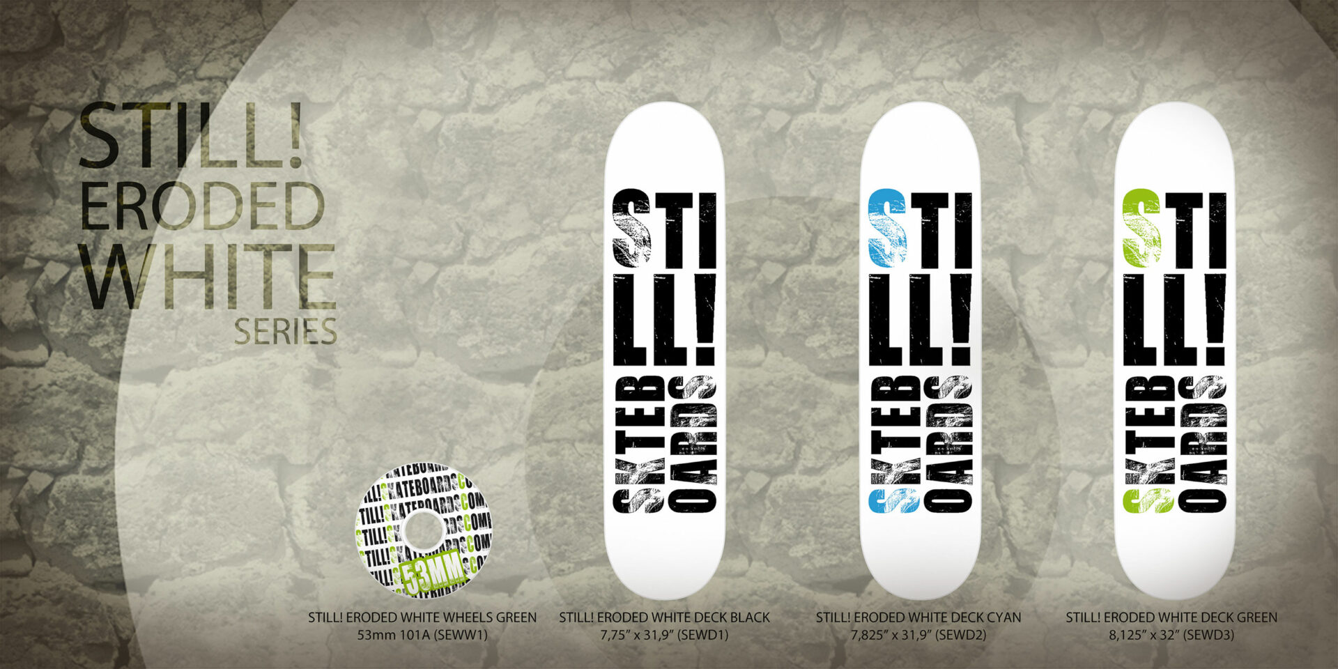 Still! Skateboards Grafica Catalogo Prodotti Digitale