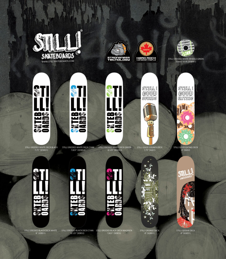 Brand Identity Still! Skateboards Inserto Decks